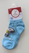 Snoopy trumpos kojinės (žydros)
