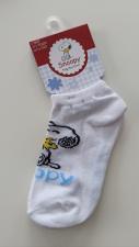 Snoopy trumpos kojinės (baltos)