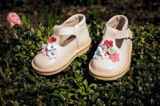 Latte gėlėti sandaliukai