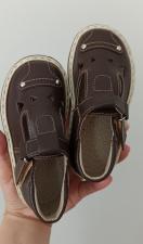 Šokoladinės spalvos sandaliukai