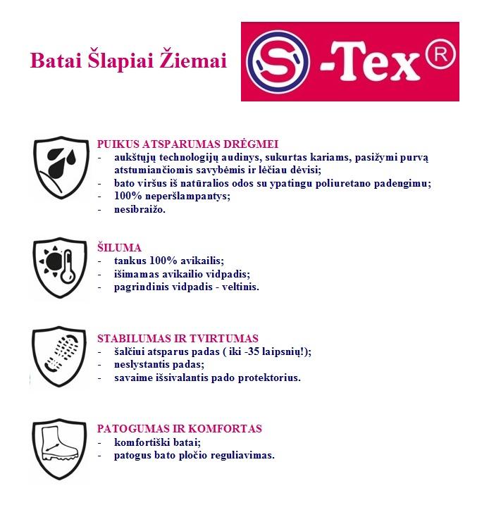 SHAGOVITA S-TEX  violet neperšlampami žieminiai batai 27-31
