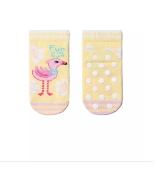 Neslystančios kojinės Conte kids Rožiniai flamingai