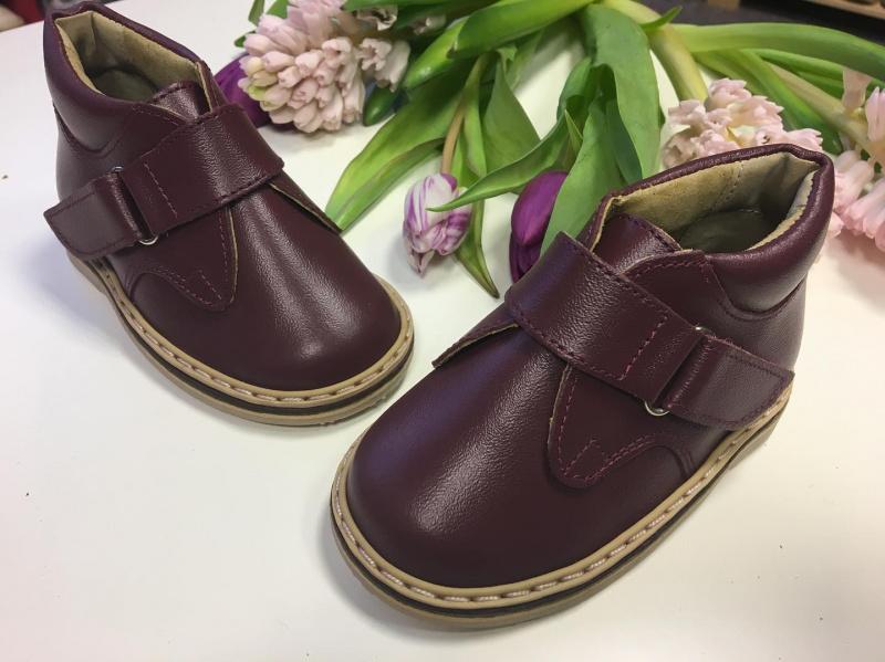 Burgundiški Batukai - uždari sandaliukai