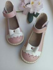 Rožiniai sandaliukai su bantuku