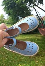 """Dangaus mėlyni sandaliukai """"lašeliai"""""""