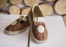 Verstos odos rudi sandaliukai