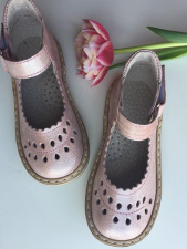 Pelenų rožiniai sandaliukai su perlamutru 17-28