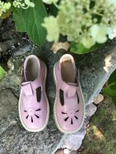 Rausvi sandaliukai