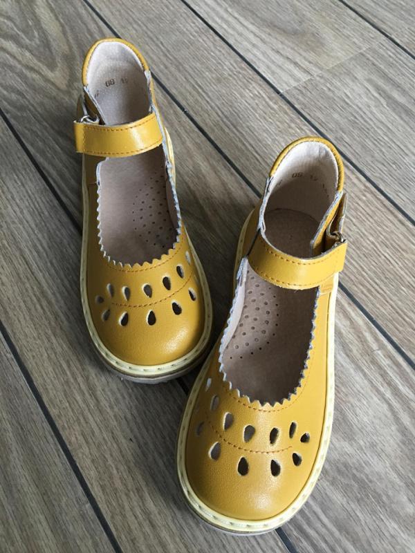 """Yellow sandaliukai """"lašeliai"""""""