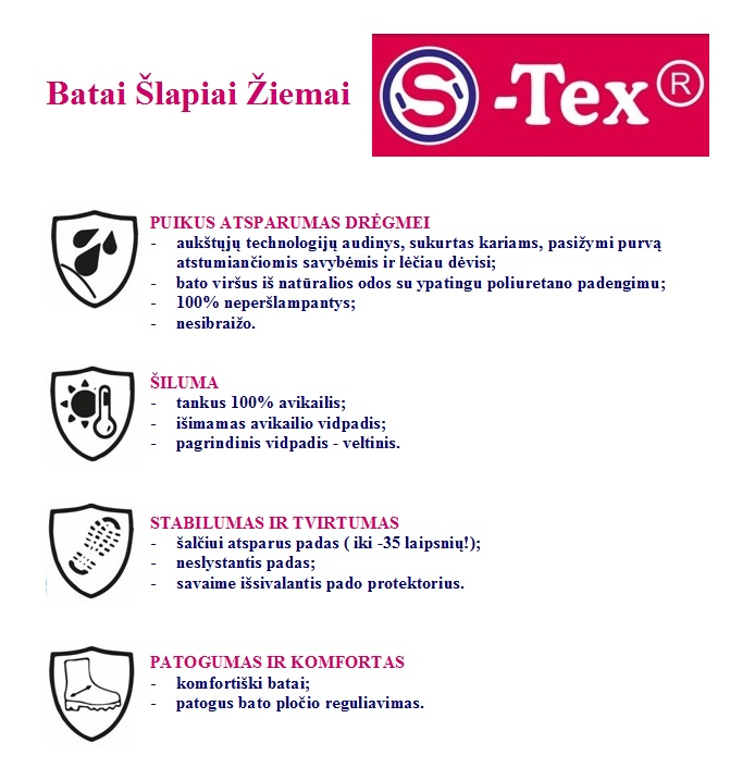 Žeminukai neperšlampami S-Tex 23-26